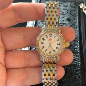Two-tone diamond & Mother of Pearl watch